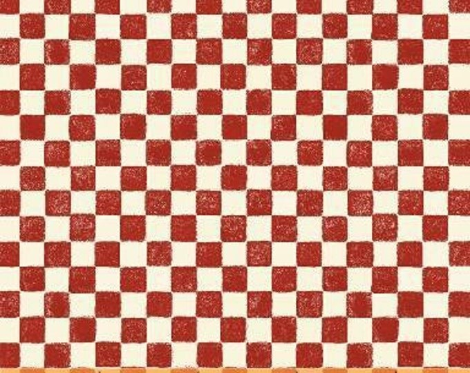 SUPER CLEARANCE! One Yard Red Check - The Three Bears Cotton Quilt Fabric - Windham Fabrics (W481)