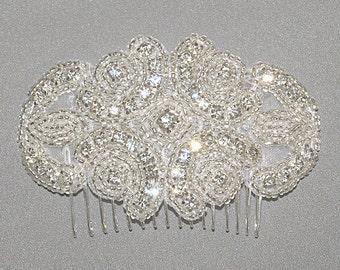 Rhinestone Bridal Hair Comb, Rhinestone Comb, Wedding Hairpiece, Bridal Comb, Bridal Enchantment