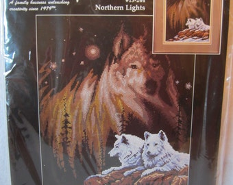 Janlynn Northern Lights Counted Cross Stitch Kit #13-244 Design by Roger W Reinardy 1998