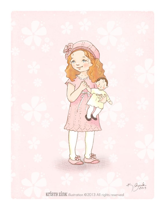 Little Girl Room Decor Children 39 S Wall Art Print