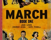MARCH: BOOK ONE graphic novel-- John Lewis and Nate Powell. signed & sketched.