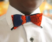 Bow tie, African wax print