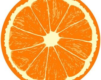 Orange Fruit Slice Citrus Kitchen Wall Decal #40769