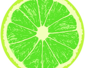 Lime Fruit Slice Citrus Kitchen Wall Decal #40770