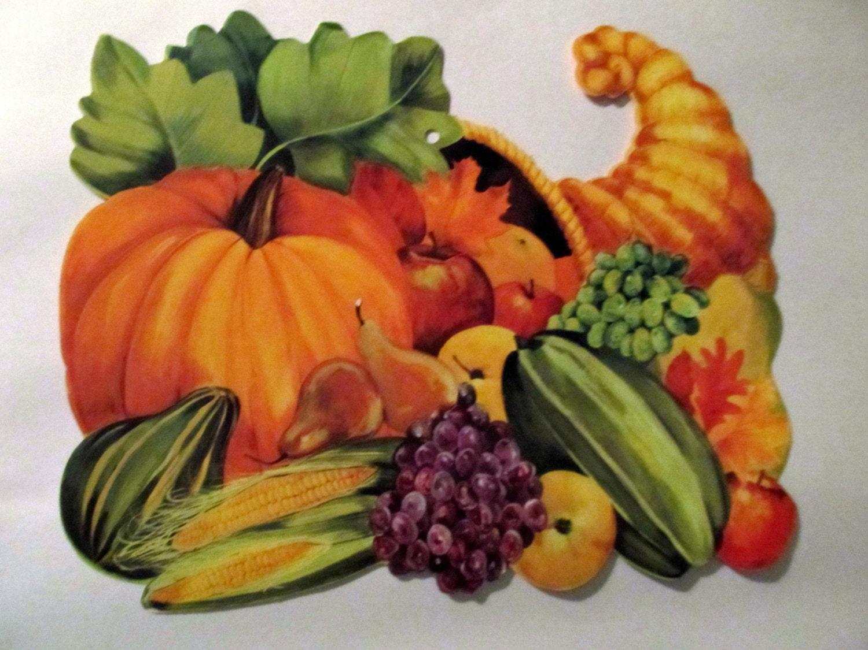 Silk Decor Home Accents Retro Thanksgiving Fall Autumn Decor Paper Vintage Die Cut