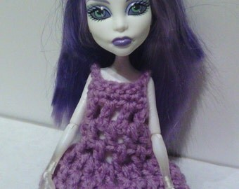 Hand Crocheted to fit a Monster High Doll (this is not a Mattel product), Clothes, Nightgown, Dress, Light Purple, Cute