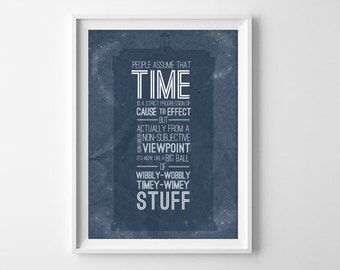 Doctor Who Quote Art Print - Timey-Wimey 8x10