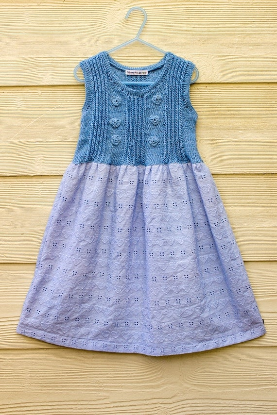 Knitting Pattern Summer Dress : INSTANT DOWNLOAD PATTERN Girls Summer Knit Dress Fabric