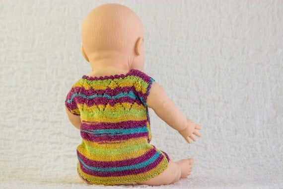 Knitting Pattern Baby Singlet : KNITTING PATTERN, Baby Vest, Baby Singlet Top, Baby Summer Vest , Lace Detail...