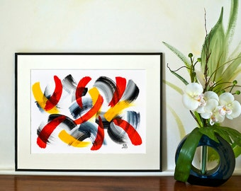 REDUCED - Brushstrokes - No.4 (Abstract)