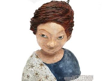 Paper mache sculpture Sanne