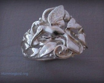 Sterling Silver Hummingbird Ring