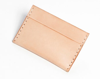 Dual-Slot Card Case / Leather / Hand-Stitched / Minimal / Modern / Fathers Day Gift