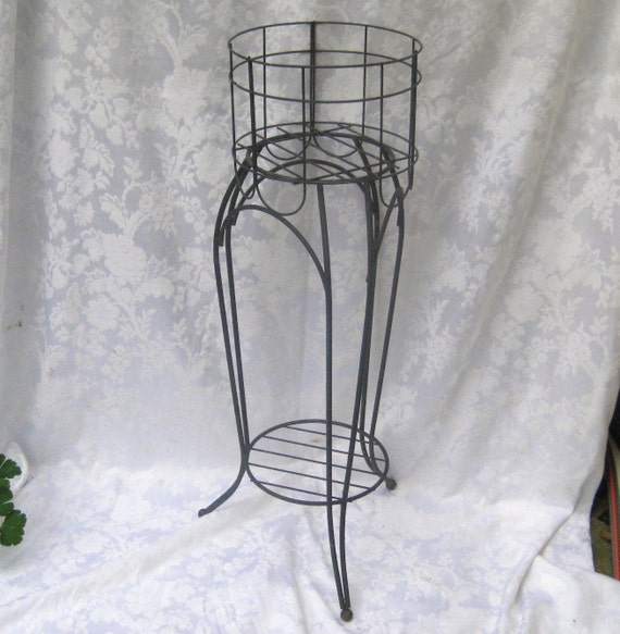 wrought iron tall plant stand fern stand shabby farmhouse. Black Bedroom Furniture Sets. Home Design Ideas