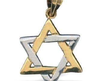 Classic Interlocking Gold Filled Pendant MAGEN DAVID from HolyLand Jerusalem