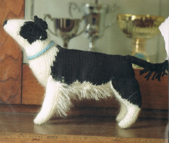 Amigurumi Dog Knitting Patterns : Amigurumi Knitting Pattern Border Collie Dog Toy Knitting