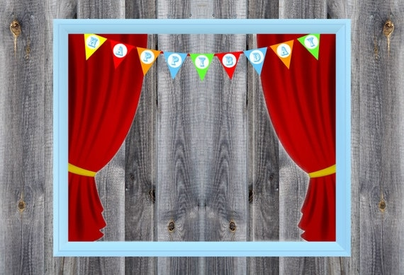 Carnival Circus Birthday Party Theme Photo Booth Prop