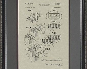 Legos Patent Artwork Gift C5282