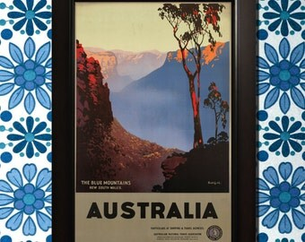 Australia Travel Poster - 3 sizes available, one low price.