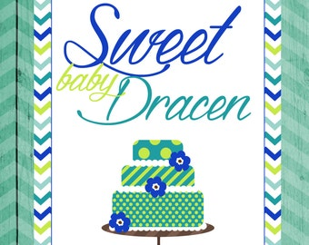 Baby Shower Table Sign Sweets Table Sign Baby Shower Sweets Table Sign