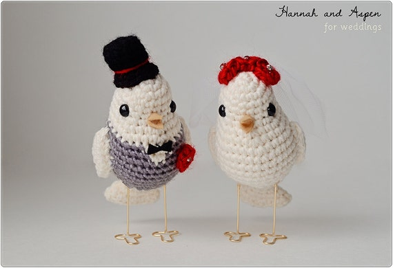 crochet wedding cake crochet bird wedding cake topper crochet and groom 13094