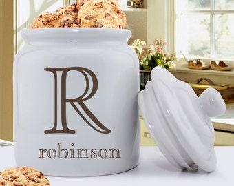 Monogrammed Cookie Jars - Personalized Cookie Jars - Personalized Gifts for Mom - Gifts for Her - Mother's Day Gifts - GC1077