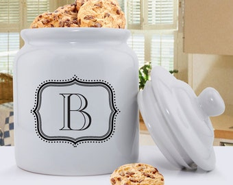 Personalized Cookie Jar - Monogrammed Cookie Jar - Mother's Day Gifts - Monogrammed Cookie Jar for Her - Gifts for Mom - GC1077