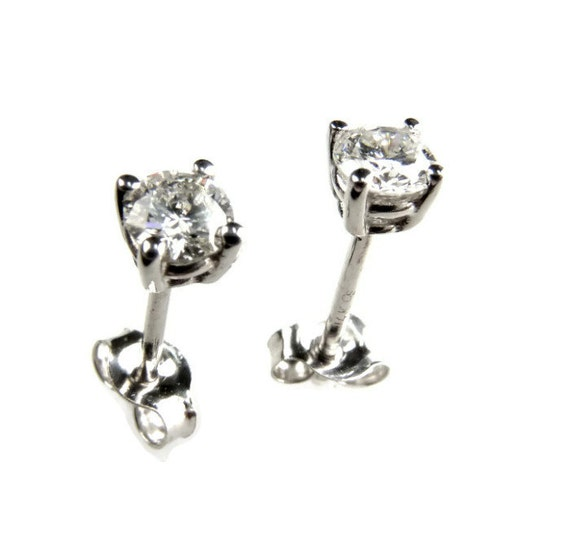 items similar to baby stud earrings white gold