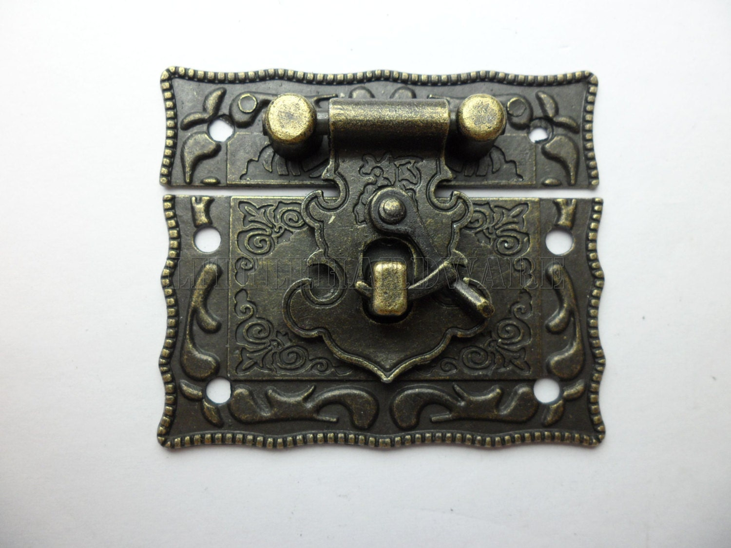 Hasp And Staple >> 51mmx43mm antique Brass Jewelry Box latch/Hasp Catch/ small