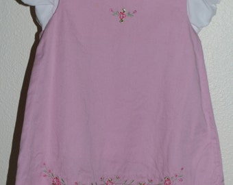 Vintage baby dress. Baby Pink, Little Bitty for 18 Mo