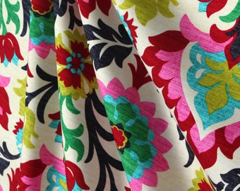 Fabric Sample-Upholstery Fabric, Drapery Fabric, Floral Fabric, Bold/Modern Fabric, Duvet Fabric, Sewing Material/Home Decor/Craft/Diy