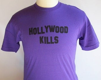 T Shirt CRAMD Hollywood Kills T-Shirt American Apparel Tshirt Unisex Tee Shirt Mens Womens Cool Funny College Celebrity Pop Culture Phrase