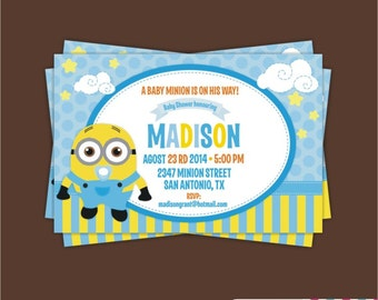 printable baby shower minions invitation baby minion imprimible