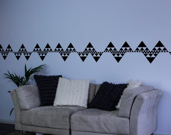 Repeating Triangles Wall Decal Border for Interior Design