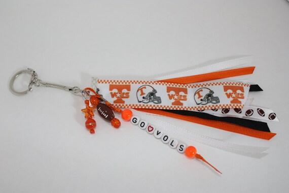 Tennessee Vols Football Ribbon Keychain
