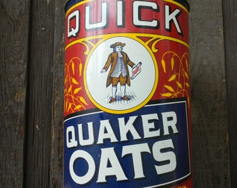 Vintage collectable  Quick Quaker oats tin 1990 Limited Edition