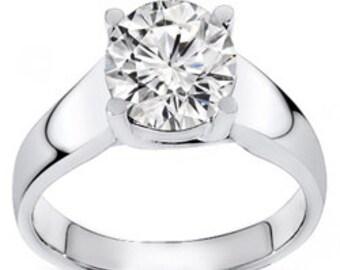 0.25 Carat Round Cut Diamond Ring