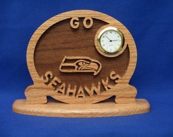 Seatle Seahawks Desk Clock