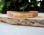 """A """"I Can See Your Halo"""" Beyonce Gold Filled & Leather Bracelet - MUSIC Bracelet"""