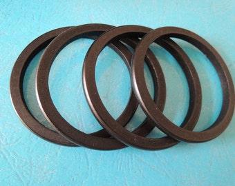 8Pcs  Black Wood Bangle Wood ring  69mm ( W423-3)