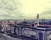 Landscape photography, PRAGUE towers - HDR photography,  travel photo, old tovern, old town, wall art, wall decor, fine art photography