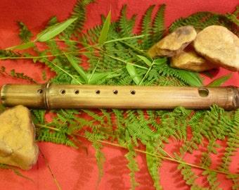 Handmade bamboo bansouri flute, key of A