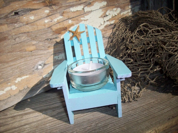 Beach Decor Adirondack Chair Candle Holder Wedding Decor