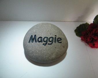 Pet Memorial Stone / Palm Size Memorial Stone/Memorial Pet Stone