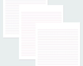 Shades Of Lavender Lined paper / Printable Paper / Writing Paper / Paper