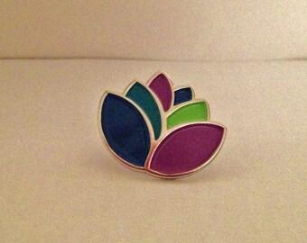 Safe Alliance Lotus Flower Lapel Pin