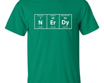 Nerdy Periodic Table T-shirt Geek Science Teacher