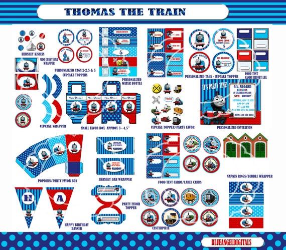 Thomas the train birthday thomas the Train by blueangeldigitals
