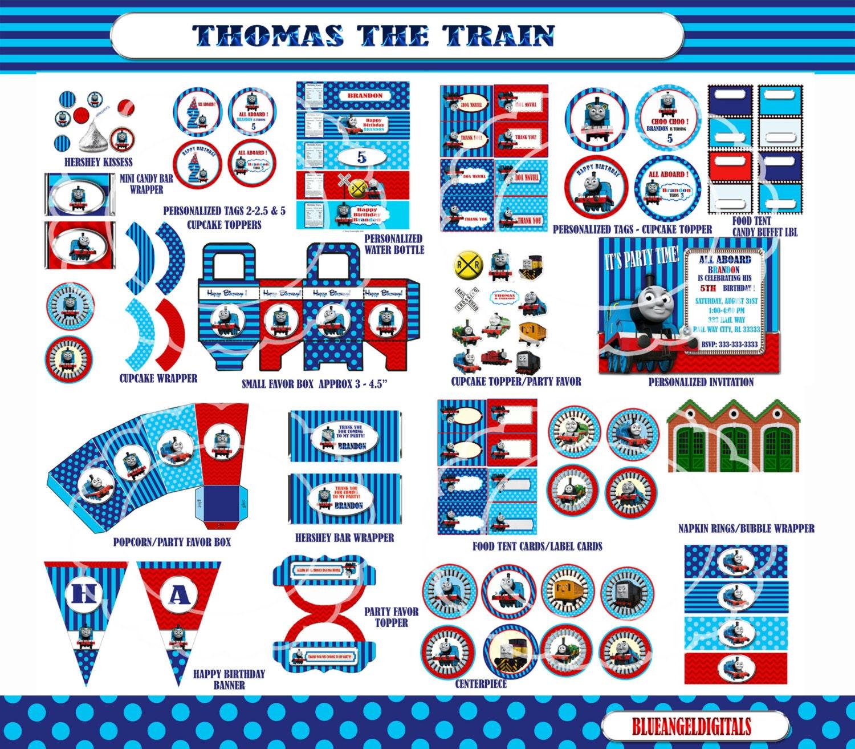 thomas the train birthday thomas the train by blueangeldigitals. Black Bedroom Furniture Sets. Home Design Ideas