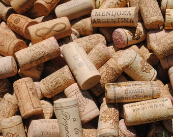 200 Used Wine Corks - All Natural Recycled Wine Corks - Bulk 100% Natural Corks